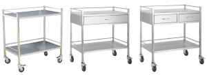 STAINLESS STEEL DOUBLE TROLLEY