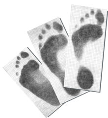 Foot Impression Paper (100 per Pack)