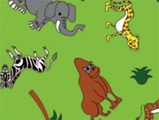 Colouring Paper - Jungle Animals